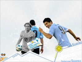 Forlan and Suarez by MUSEF