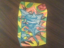 My mom art work: Abstract Torando with a sun by BlackCherry1994