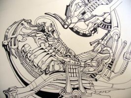 Giger Study 1 by Azron