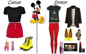 Disney Mickey Mouse Inspired Outfits by RockerChic21