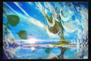 The Sea the Tree and the Sky by Sentient-Phyton
