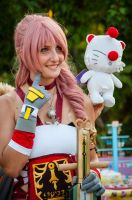 Serah and Mog by NelielTheArrancar