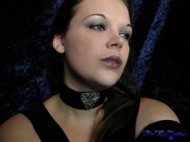 Gothic Posture Collar - Elegant Vine Heart and eye by LadyPirotessa