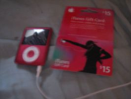 iPod Nano and $15 iTunes Card by TaionaFan369
