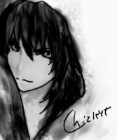 Aoba in black and white by azi118