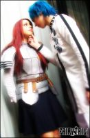 Scared? - Erza and Sieg by MuzzaThePerv