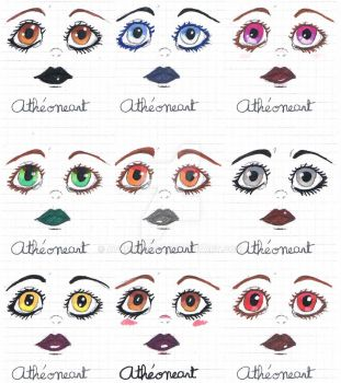 Eyes [Colors] by AtheoneArt