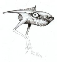 Daily Sketch v054 -Chickenfish by IndustrusDesign