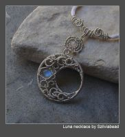 Luna necklace by bodaszilvia