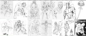 HalfLife All 72 Sketches by BrianELau