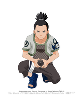Shikamaru Nara Colored 1 by ZcudTheBlind