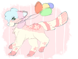 cotton candy carnival dog adopt!! AUCTION by meurei