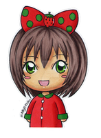 Strawberry Chibi by zkittyz