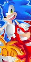 Sonic,Tails and Knuckles by Sonikku-Star