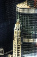 Chicago Mather and Trump Tower by spudart