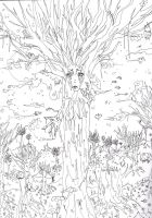 Tree of death lineart by xZombieCandy