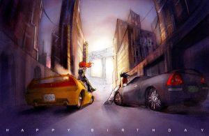 ppl with cars by tobiee