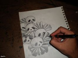 skulls sketch by berkozturk