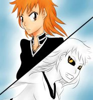 Ichigo and Hichigo genderbender - colored by Littlegrazygirl