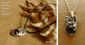 Dragon Guardian Pendant by GeshaR
