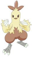 Combusken, the Kung Pow Chick by Sajirou