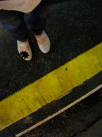 do not cross the yellow line by fourfiftysix