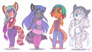 Group - Tiny Furrys 06 by playfurry