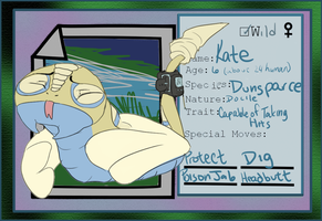 pokemon island- kate the dunsparce by Appletail