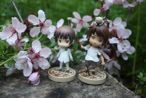 Japan and Greece at Hanami by here-and-faraway