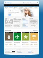 TopBusiness: front and portfolio pages (Free PSD) by DuckFiles