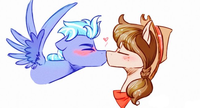 First Kissu by HiccupsDoesArt