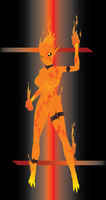 Burning Elemental by Croxot