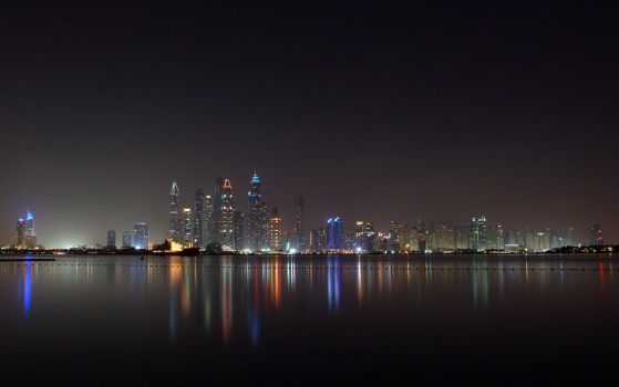 Dubai At Night (Oceana Beach) by skywalkerdesign