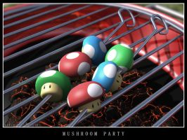 Mushroom Party by ElBorja
