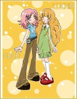DeDe and Luchia by DinaUAE