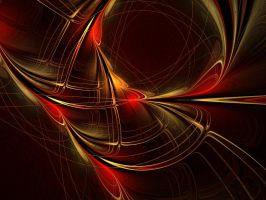 Royal Red Gold And Black by pamelamc