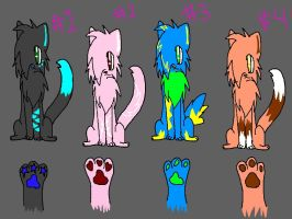 Adoptables Batch 1 Unhatched by Riaka-the-Cat