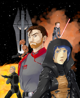 Revan and Sith Carth by surfersquid