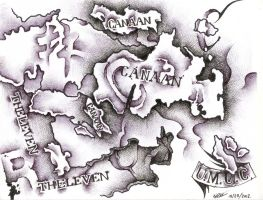 Canaan map # 2. by NizinLopez