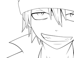 Soul Eater Evans lineart by SonicHakeem
