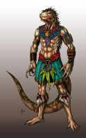 Iguana Warrior Colored by edcomics