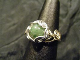 spiral nest moss agate ring by BacktoEarthCreations