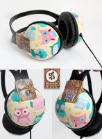 OWLsome Headphones by Bobsmade