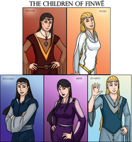LotR/S: The Children of Finwe by Houkakyou