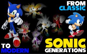 From Classic to Modern... Sonic Generations by BingotheCat