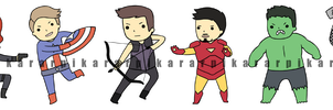 Avenger Stickers by pikarar