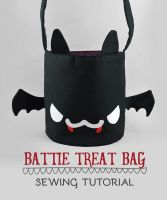 Sewing Tutorial - Battie Treat Bag by SewDesuNe