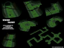Sewers Tileset by JimmyMarshall