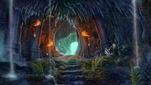 Chasm Entrance by Aldin