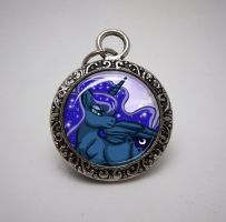 Glass Pendant: Princess Luna MLP by SapphireIceAngel